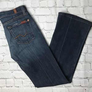 7 For All Mankind Bootcut Jeans Size 25 Dark Wash